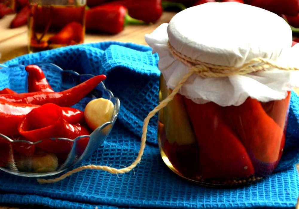 Острый перец маринованный на зиму - пошаговый рецепт, фото 1