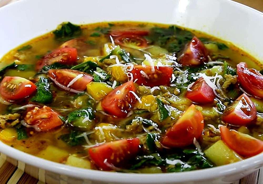 Овощной суп со шпинатом - пошаговый рецепт, фото 1