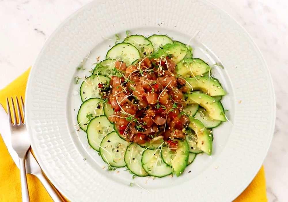 Овощной салат с тунцом - пошаговый рецепт, фото 1