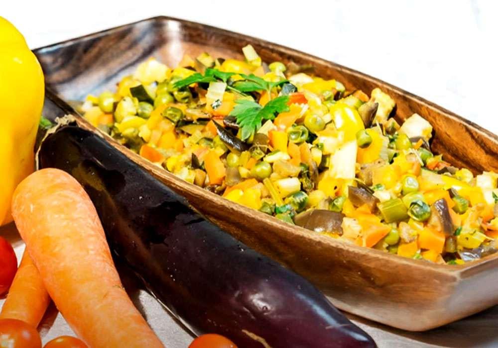 Овощное рагу с баклажанами и кабачком - пошаговый рецепт, фото 1