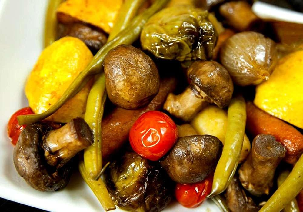 Овощи, запеченные в духовке - пошаговый рецепт, фото 1