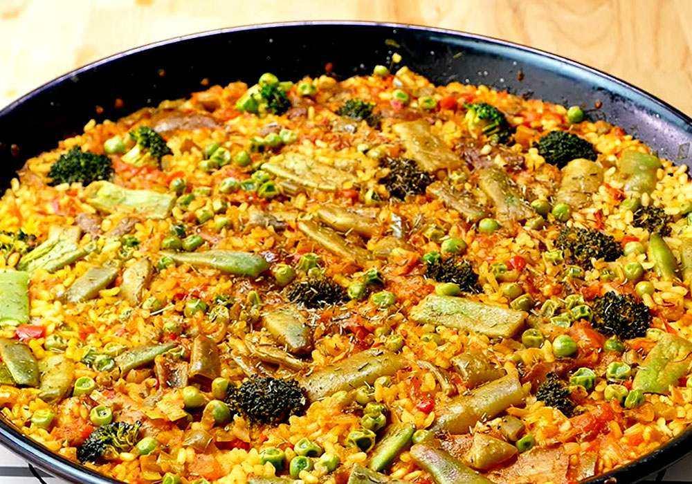 Паелья овочева - покроковий рецепт, фото 1