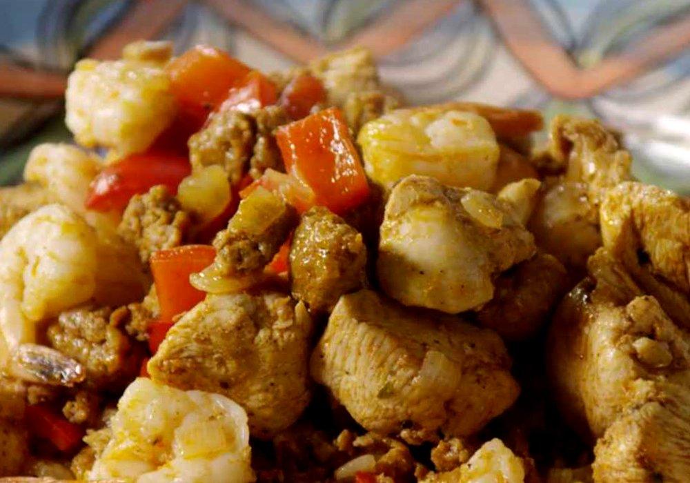 Паелья з куркою та креветками - покроковий рецепт, фото 1