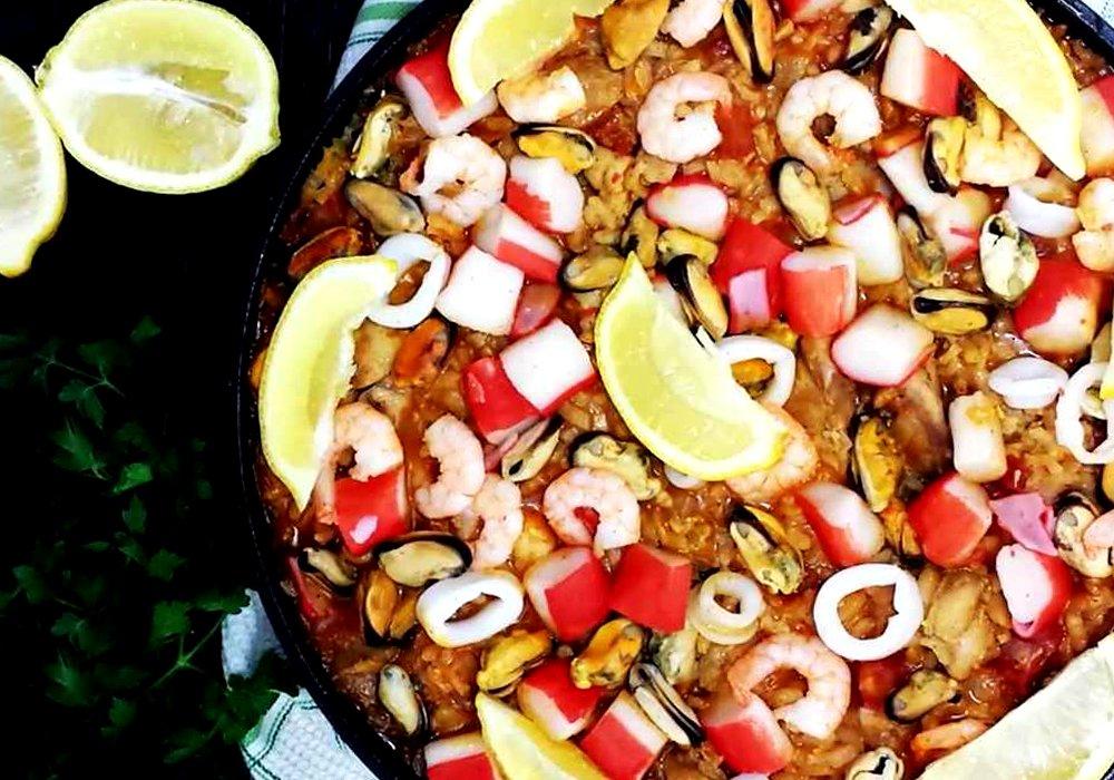 Паэлья с курицей и морепродуктами - пошаговый рецепт, фото 1