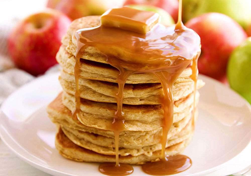 Панкейки с яблоками - пошаговый рецепт, фото 1