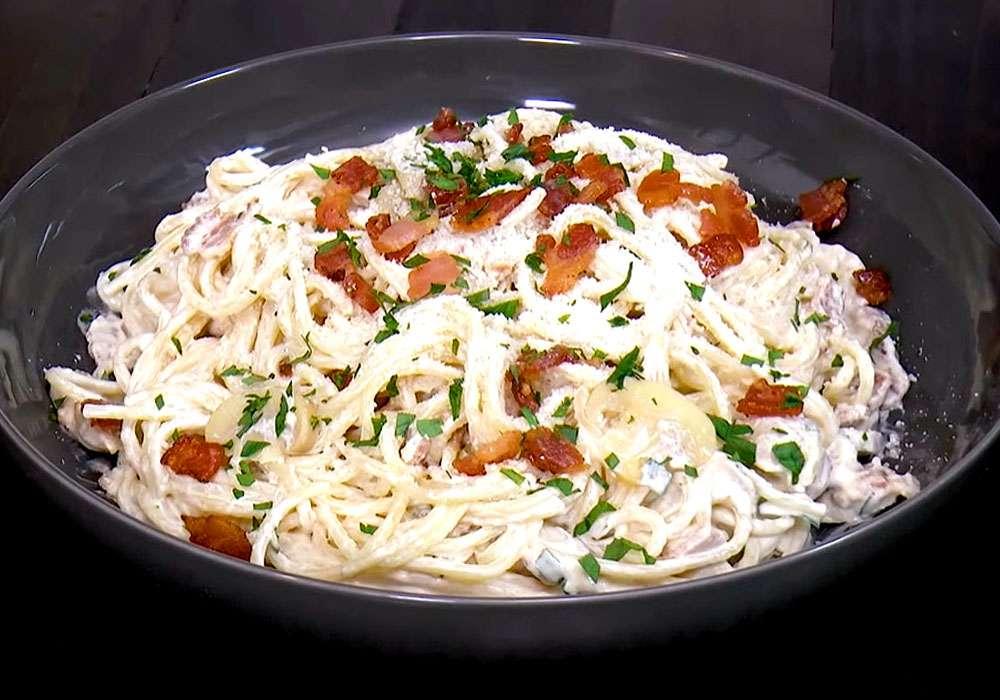 Паста карбонара с беконом и сливками классическая - пошаговый рецепт, фото 1
