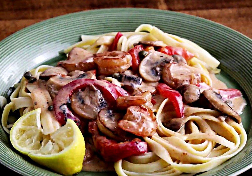 Паста с грибами - пошаговый рецепт, фото 1