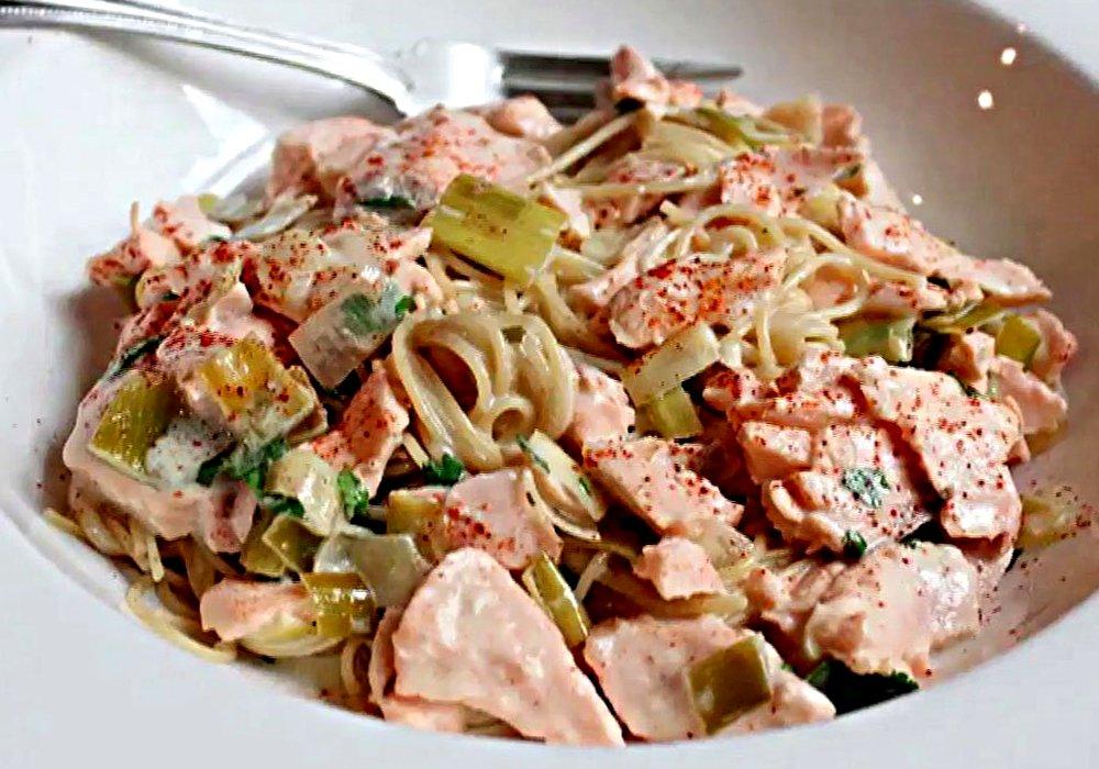 Паста з морепродуктами в вершковому соусі - покроковий рецепт, фото 1