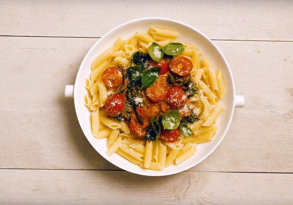 Паста с сыром и помидорами - пошаговый рецепт, фото 1