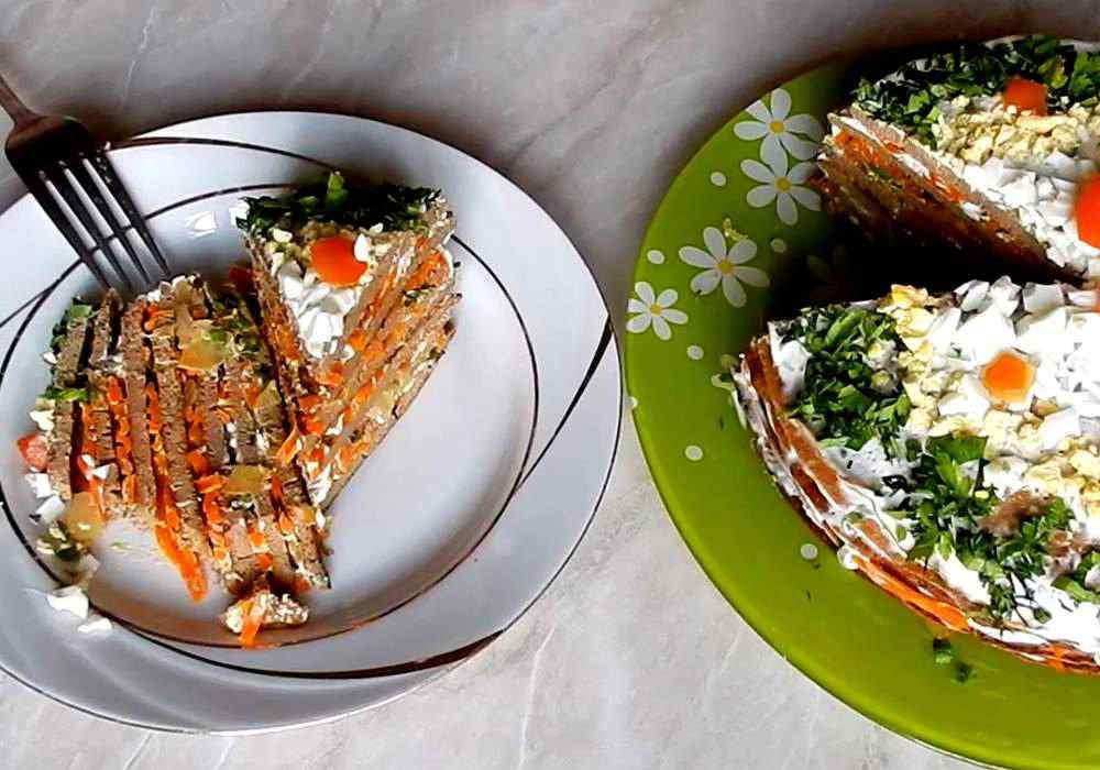 Печеночный торт с морковью - пошаговый рецепт, фото 1
