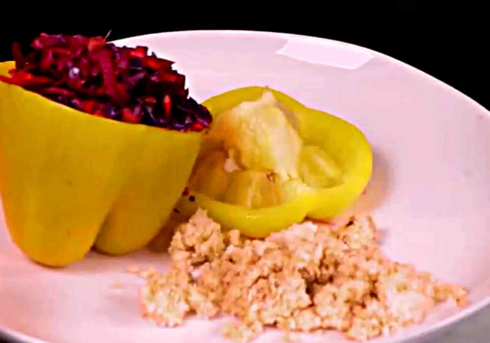 Перец фаршированный капустой - пошаговый рецепт, фото 1