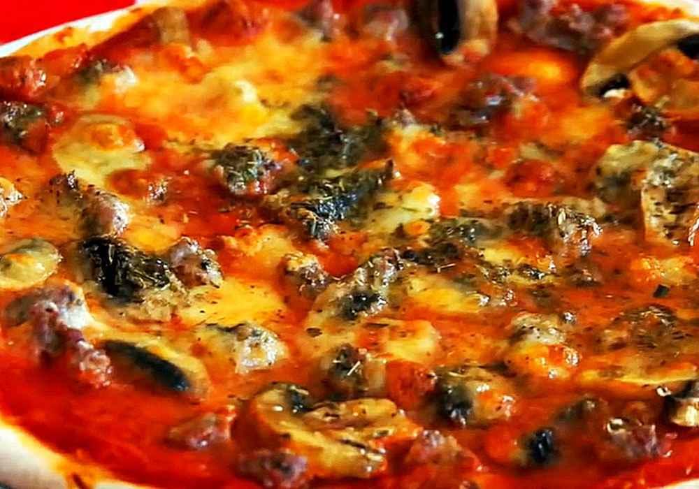 Пицца домашняя (очень простая) - пошаговый рецепт, фото 1