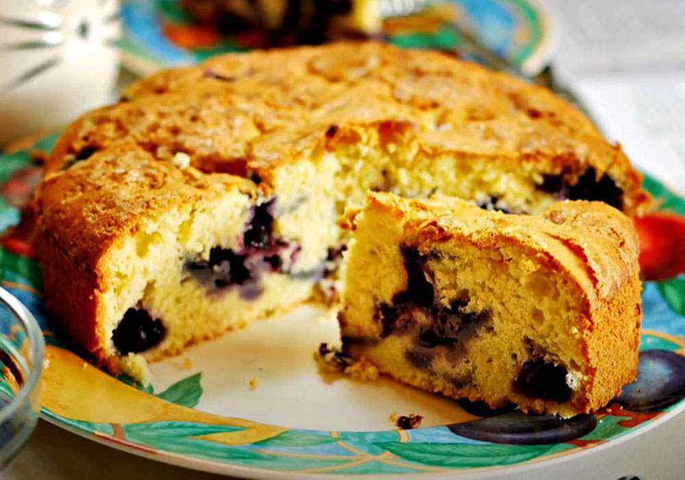 Пирог с черникой - пошаговый рецепт, фото 1