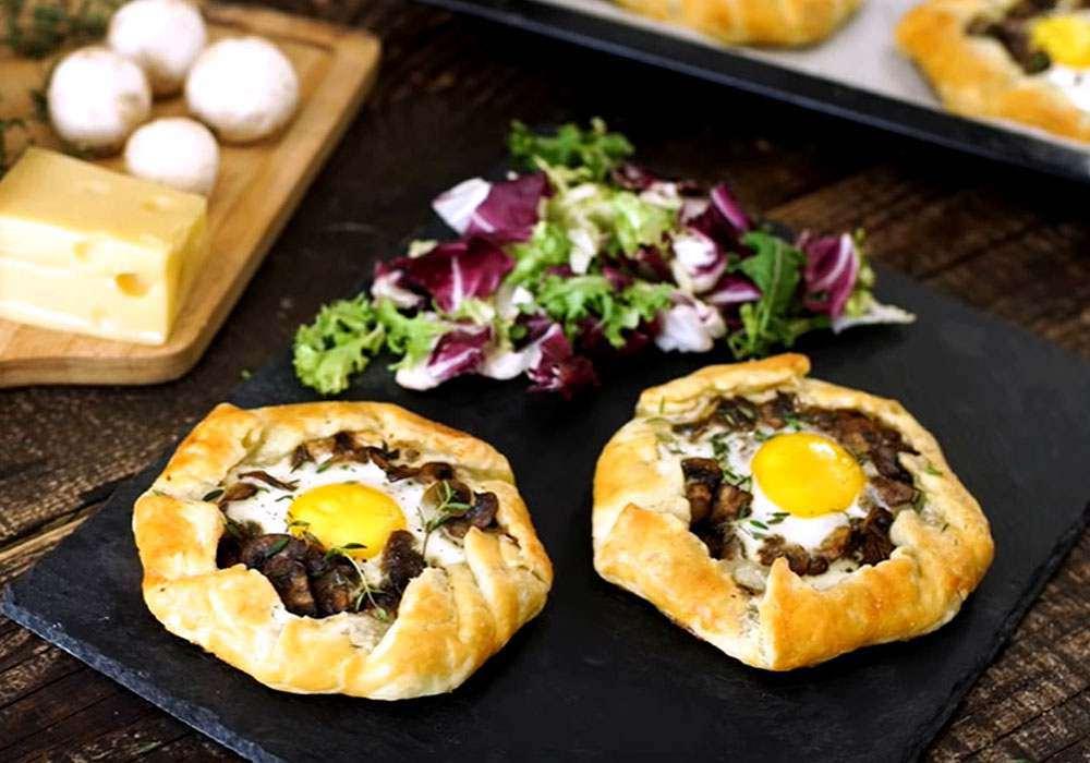 Пирог с грибами и яйцом - пошаговый рецепт, фото 1