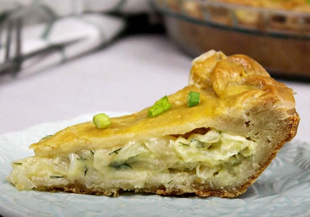Пирог с луком и сыром - пошаговый рецепт, фото 1