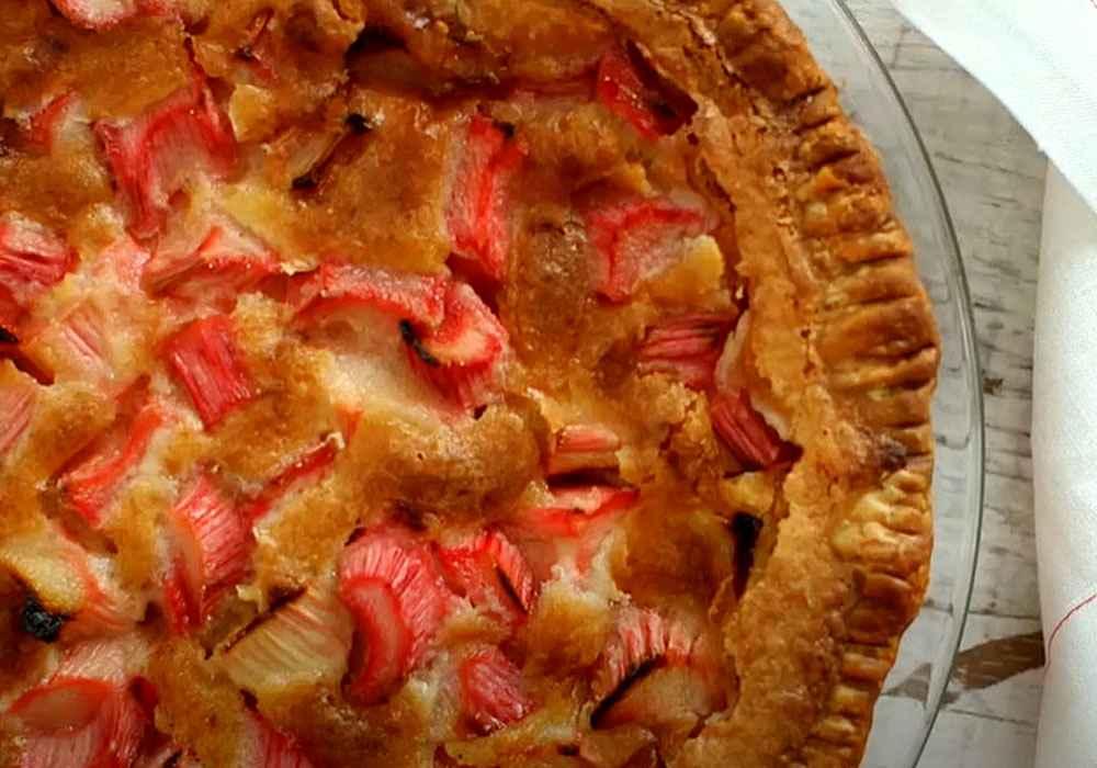 Пирог с ревенем (рабарбером) - пошаговый рецепт, фото 1