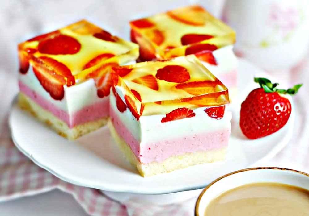 Пирог с творогом и клубникой - пошаговый рецепт, фото 1