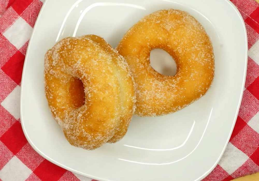 Пончики без молока - пошаговый рецепт, фото 1