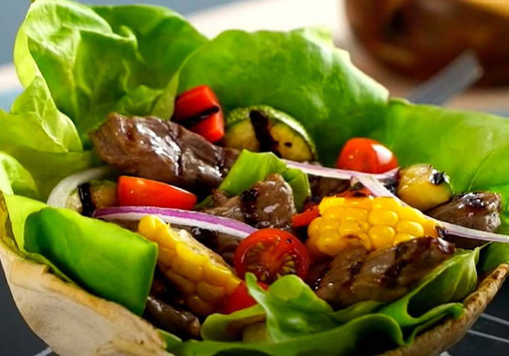 Простой мясной салат - пошаговый рецепт, фото 1