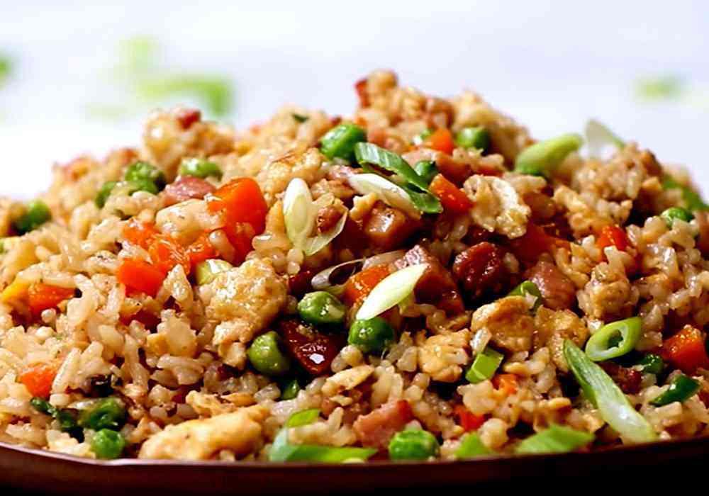Простой рис с овощами и беконом - пошаговый рецепт, фото 1
