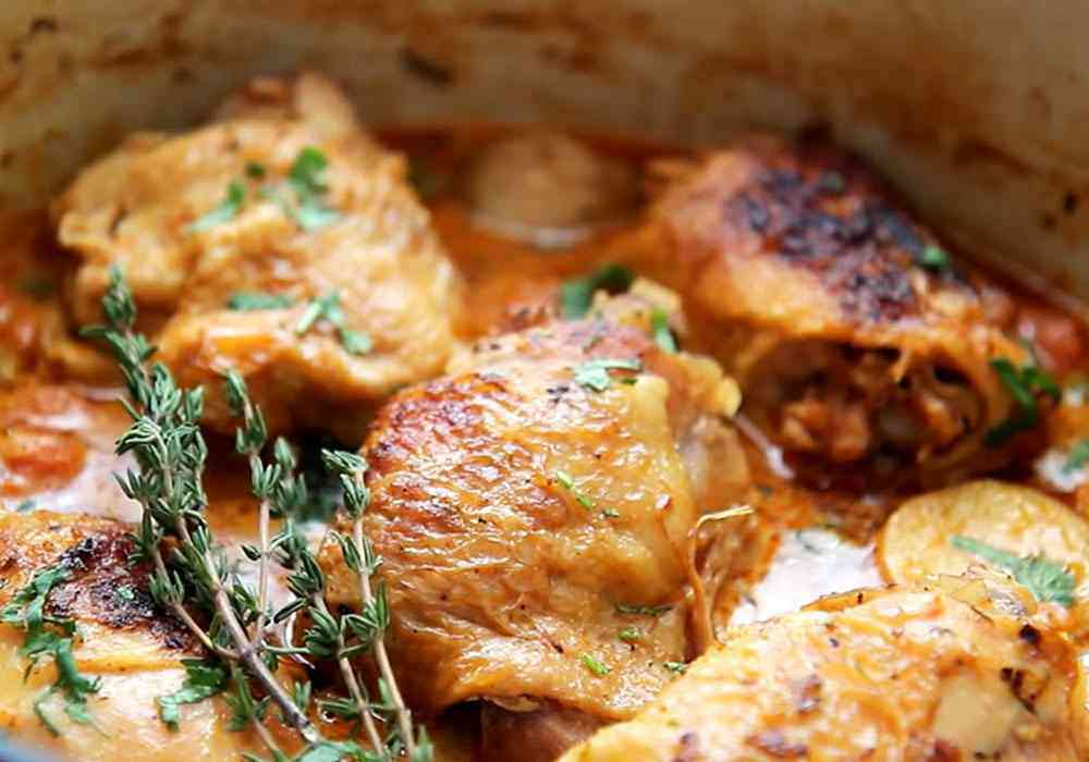 Простое овощное рагу с курицей - пошаговый рецепт, фото 1