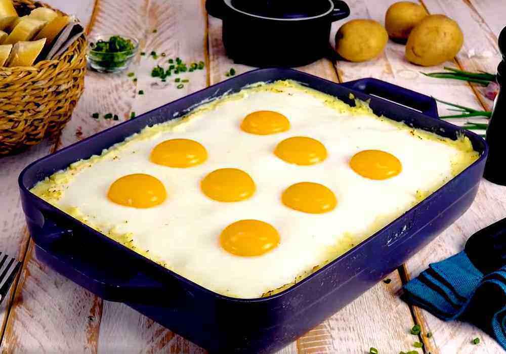 Пюре с яйцом - пошаговый рецепт, фото 1