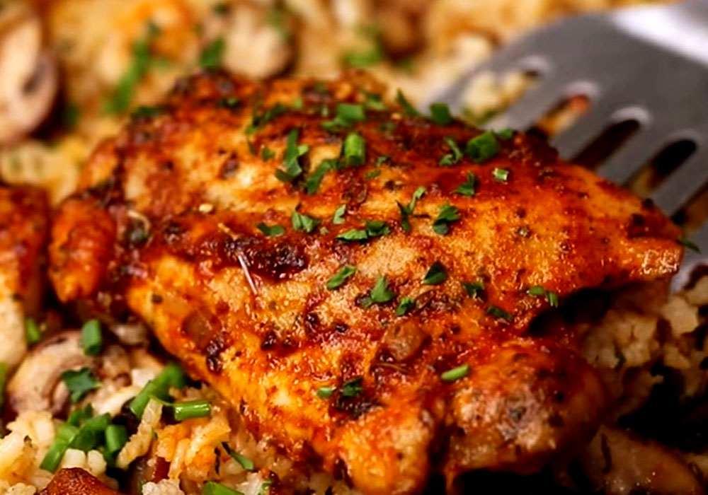 Рис з м'ясом в духовці - покроковий рецепт, фото 1