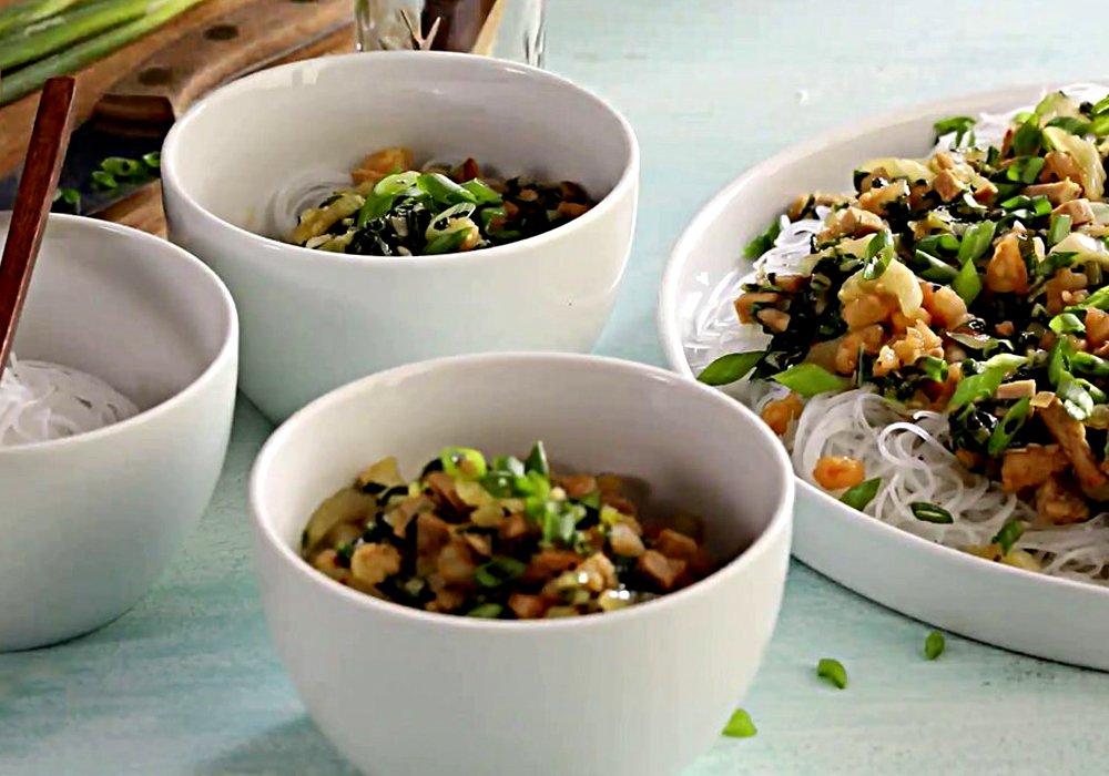 Рисовая лапша с креветками - пошаговый рецепт, фото 1