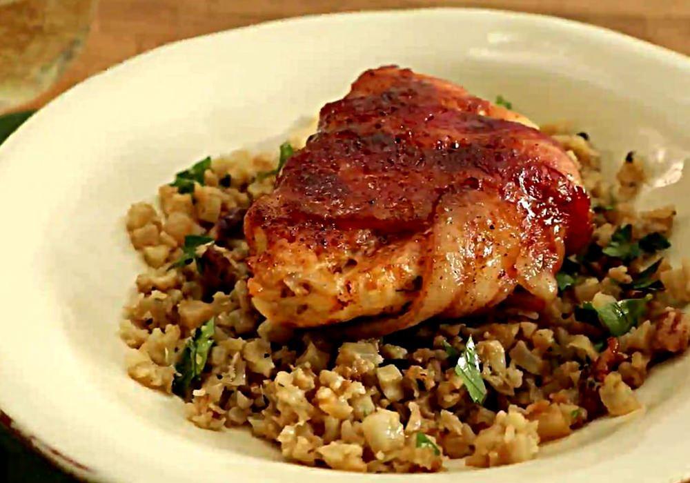 Рулетики из бекона с курицей - пошаговый рецепт, фото 1