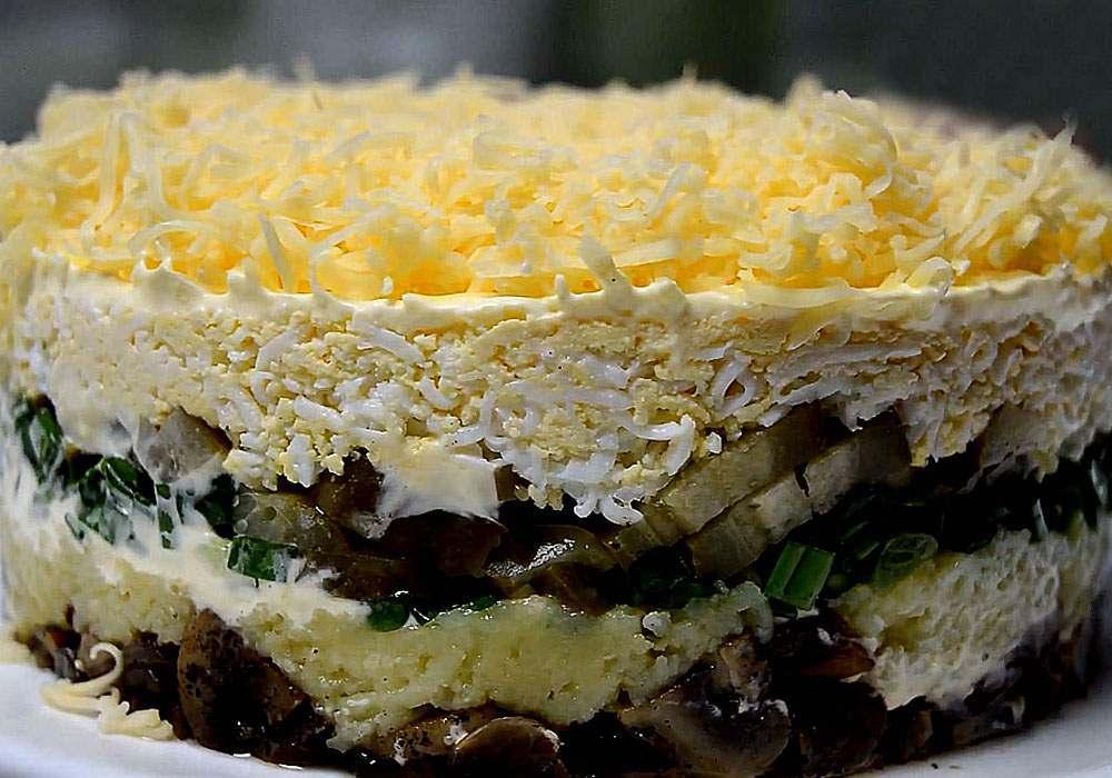 Салат царский с грибами - пошаговый рецепт, фото 1