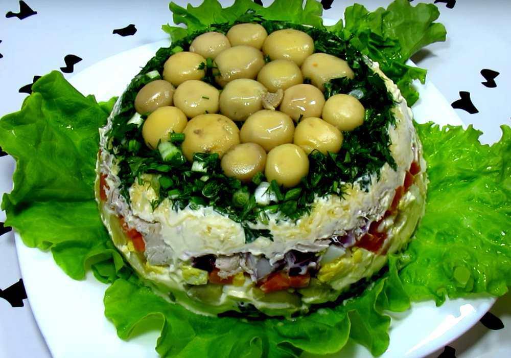 Салат грибная поляна с шампиньонами в домашних условиях - пошаговый рецепт, фото 1