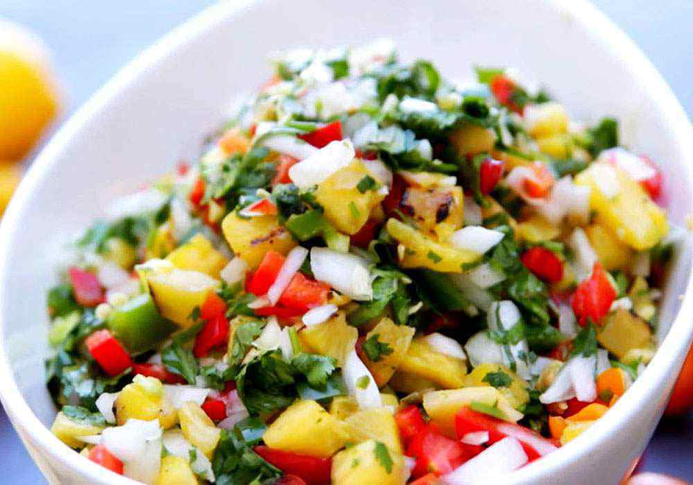 Салат из ананаса и помидоров - пошаговый рецепт, фото 1