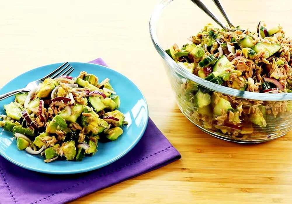 Салат из авокадо с тунцом - пошаговый рецепт, фото 1