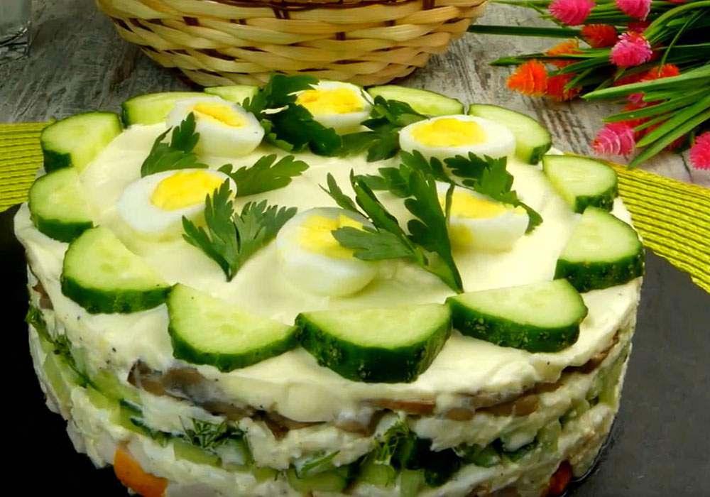 Салат з копченої курки шарами - покроковий рецепт, фото 1