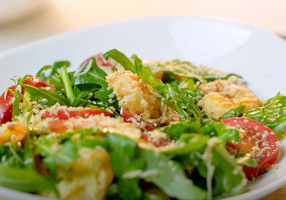 Салат из морепродуктов с помидорами и рукколой - пошаговый рецепт, фото 1