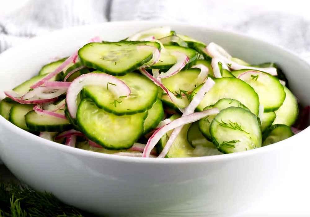 Салат из огурцов - пошаговый рецепт, фото 1