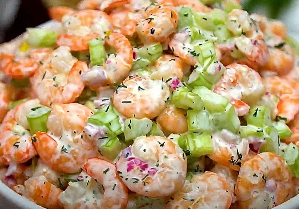 Салат из сельдерея с креветками - пошаговый рецепт, фото 1