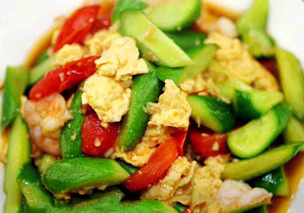 Салат из жареных огурцов по-корейски - пошаговый рецепт, фото 1