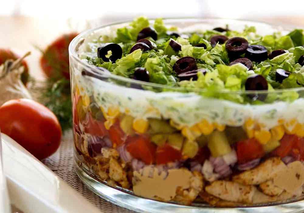 Салат курица с овощами слоями - пошаговый рецепт, фото 1