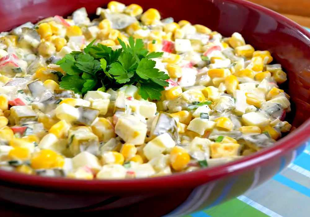 Салат нежность с крабовыми палочками - пошаговый рецепт, фото 1