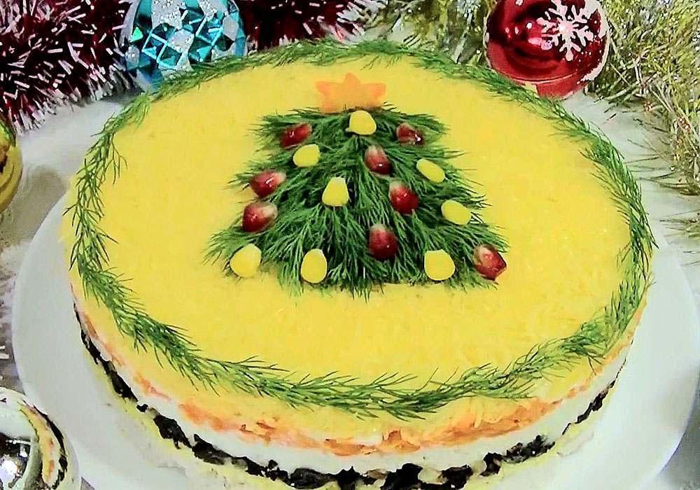 Салат новогодний с черносливом - пошаговый рецепт, фото 1