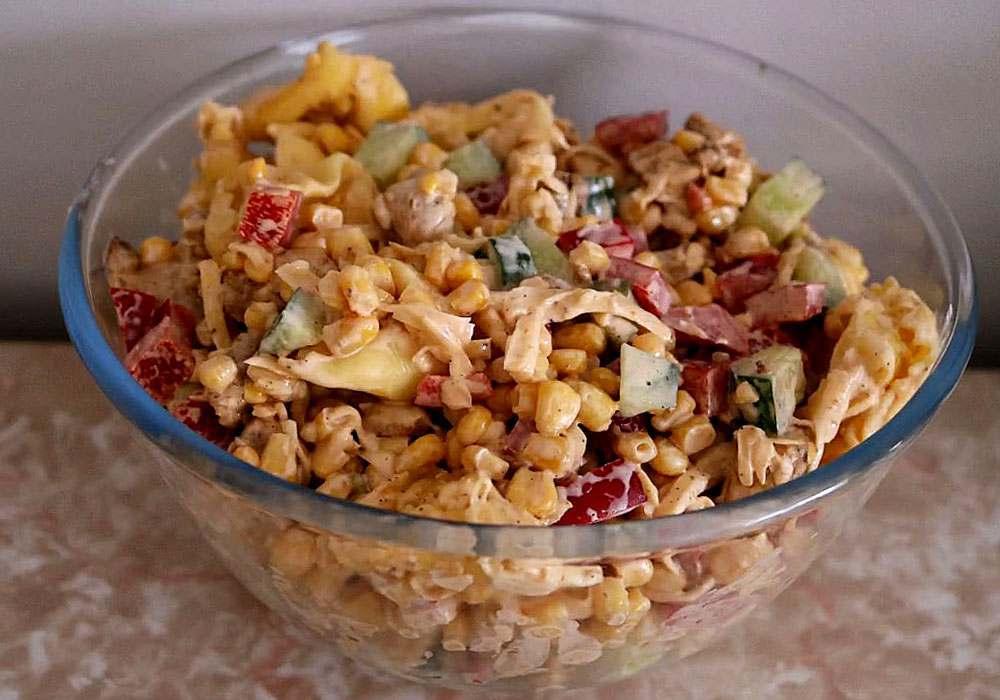 Салат обжорка з куркою - покроковий рецепт, фото 1