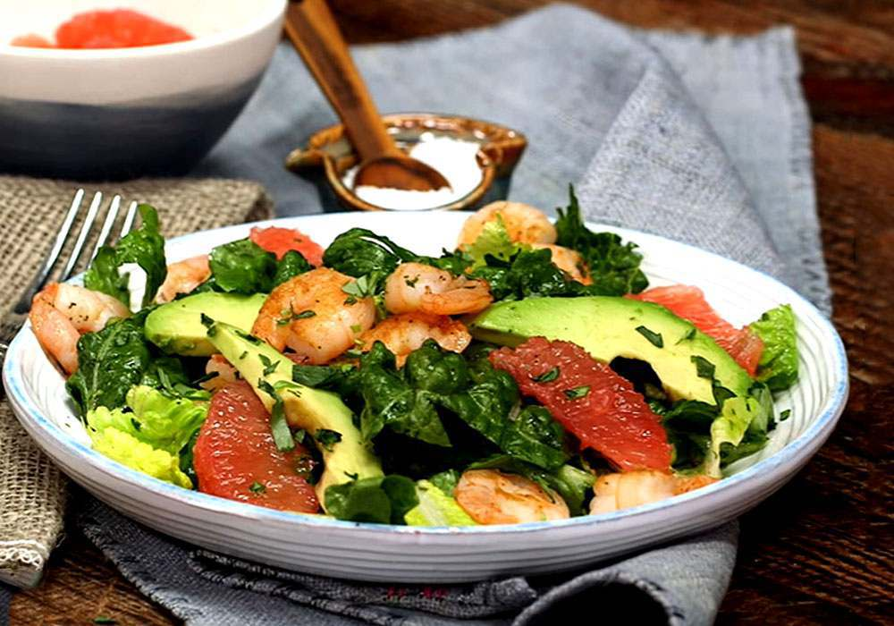 Салат с грейпфрутом и авокадо - пошаговый рецепт, фото 1
