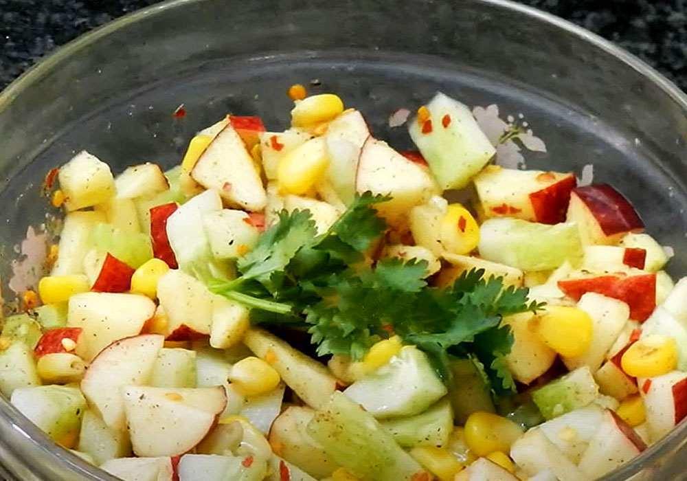 Салат с кукурузой и яблоками - пошаговый рецепт, фото 1
