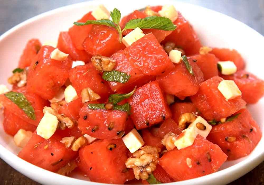 Салат с сыром и мятой - пошаговый рецепт, фото 1