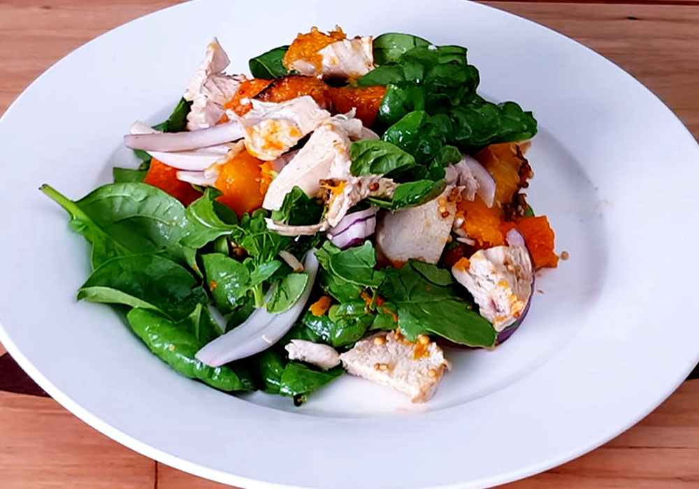 Салат с тыквой и курицей - пошаговый рецепт, фото 1