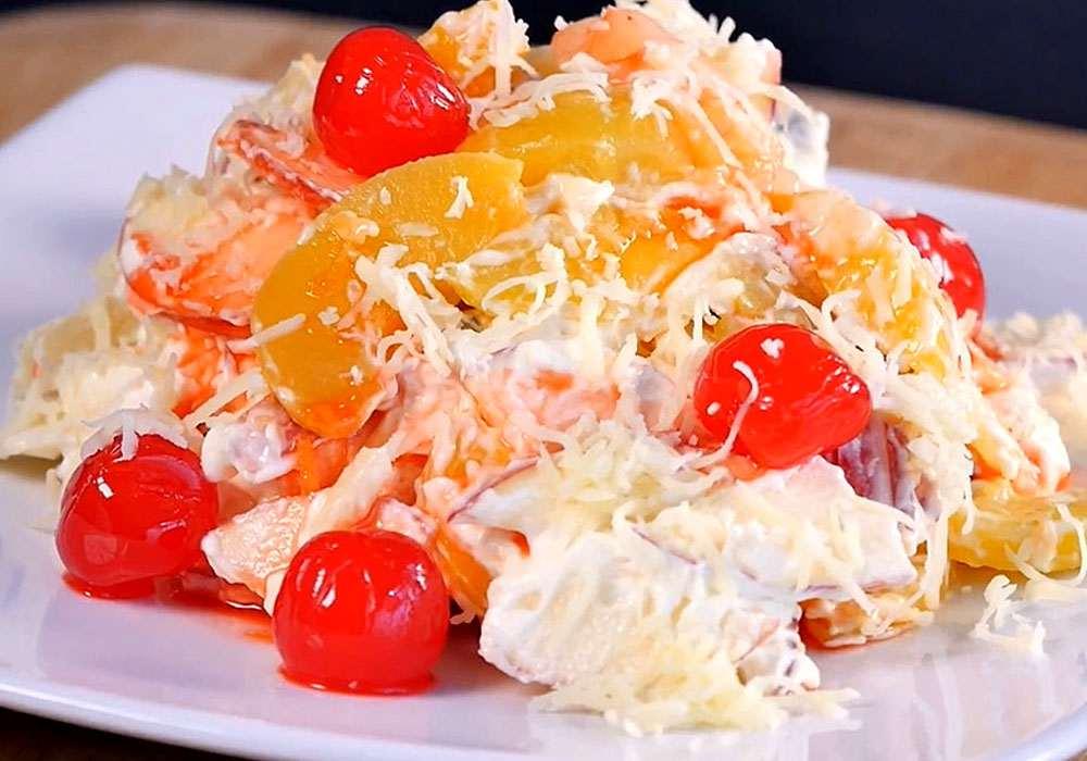 """Салат с яблоками """"О-ля-ля"""" - пошаговый рецепт, фото 1"""