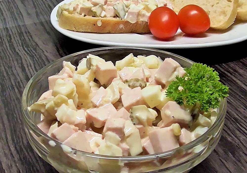 Салат столичный с колбасой - пошаговый рецепт, фото 1