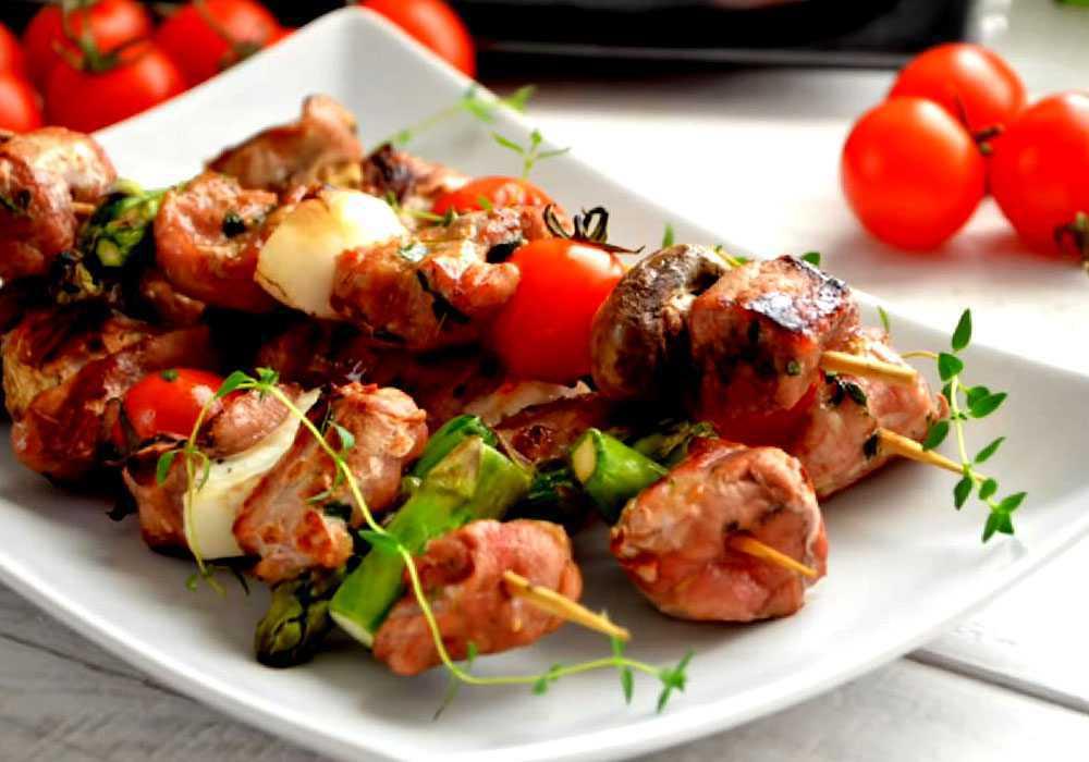 Шашлык из свинины с овощами - пошаговый рецепт, фото 1