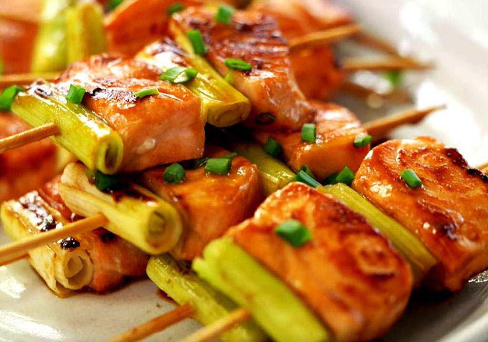 Шашлык из лосося - пошаговый рецепт, фото 1